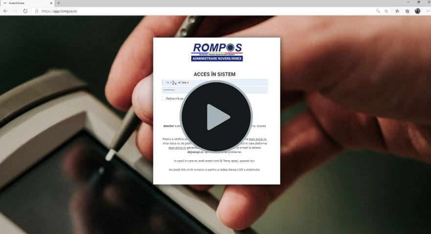 Video pași comandă RINEX