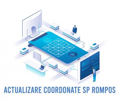 Coordonate noi Stații Permanente GNSS ROMPOS